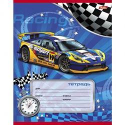 Тетрадь Спортивные авто, А5, 12 листов, косая линия