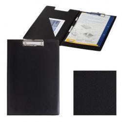 Папка-планшет с верхним прижимом и крышкой Офисмаг, А4, цвет черный
