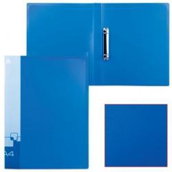 Папка на 2-х кольцах Бюрократ, А4, 0,7 мм, синяя, до 150 листов