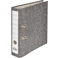 Папка-регистратор, черный мрамор, 75 мм