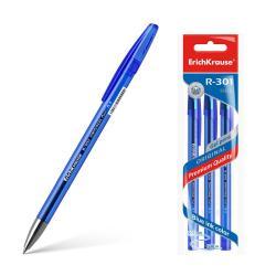 Ручки гелевый R-301 ORIGINAL Gel, синие, 3 штуки (количество товаров в комплекте 3)