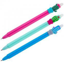Ручка гелевая Cactus, стираемая, синяя, 0,5 мм