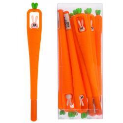 Ручка гелевая Зайка в морковке, 0,5 мм, синие чернила