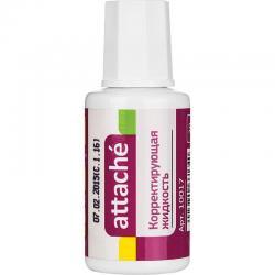 Корректирующая жидкость Attache, быстросохнущая, 20 мл