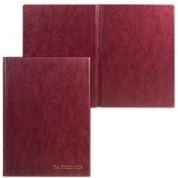 Папка адресная На подпись, А4, до 100 листов, бордовая