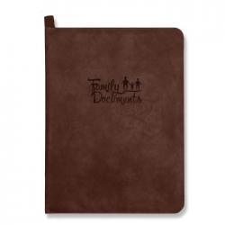Папка-органайзер для документов, A4+, искусственная кожа Линкольн, цвет коричневый