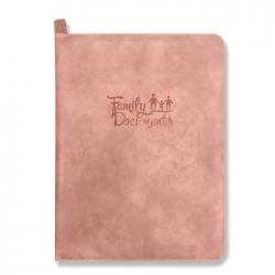 Папка-органайзер для документов, A4+, искусственная кожа Линкольн, цвет розовый
