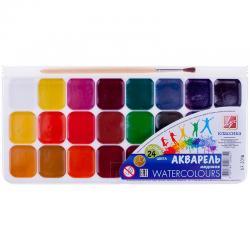 Акварель медовая Классика, 24 цвета (с кистью)