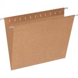Подвесная регистратура Эконом, А4, до 80 листов, коричневая (10 штук)